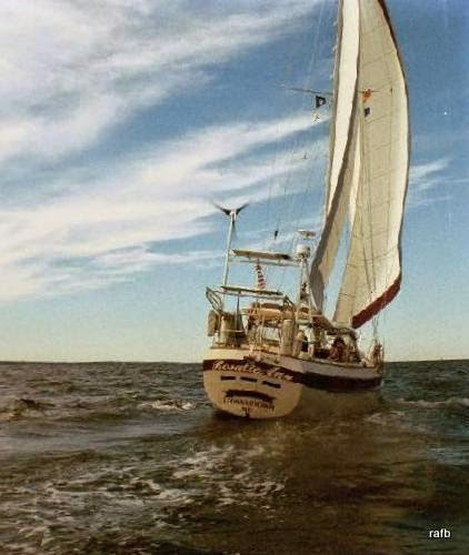 One of those film pictures - Our boat under sail