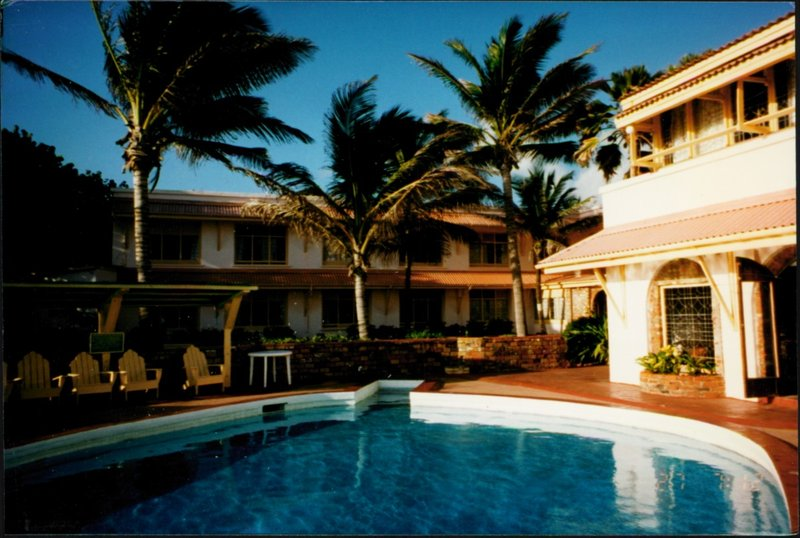 From pool (Barbados shaped) to hotel