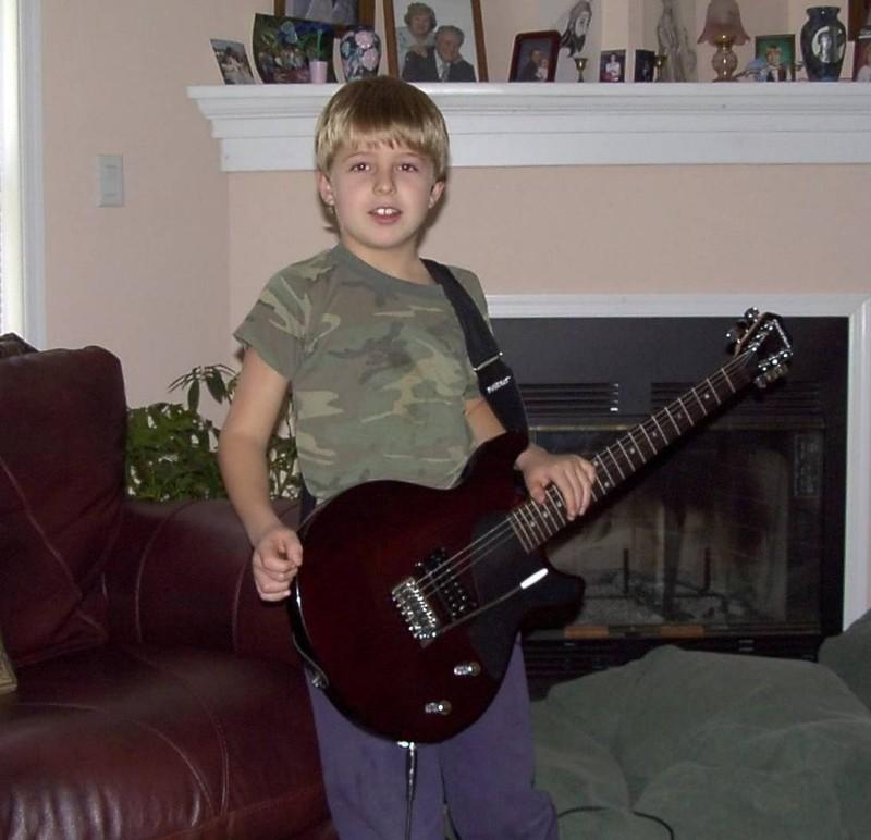 Grandson and his guitar