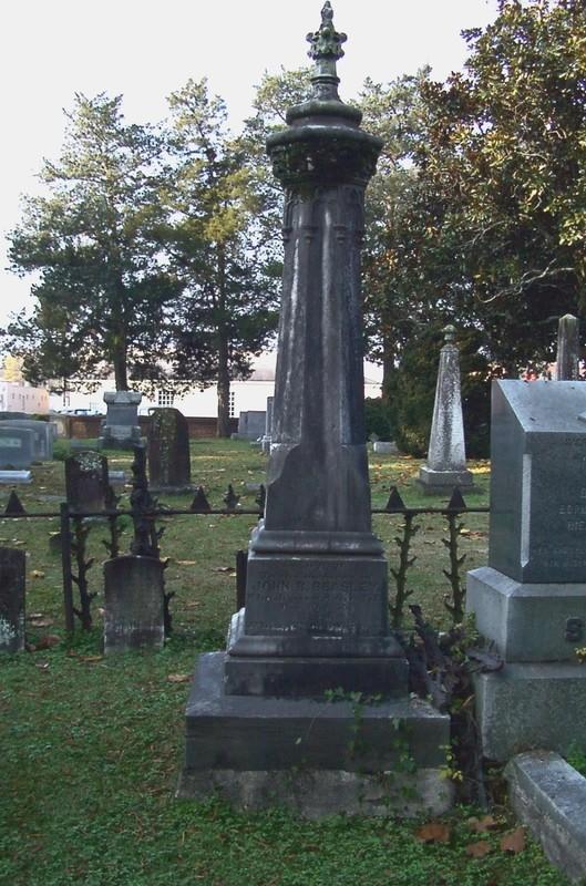 Obelisk on the grave of John Baptist Beasley