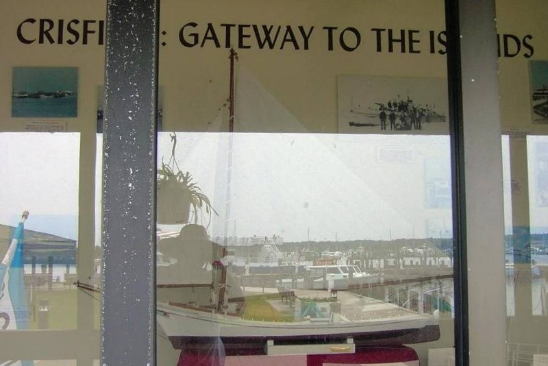 """Display window on the museum """"Crisfield Gateway to the Islands"""""""