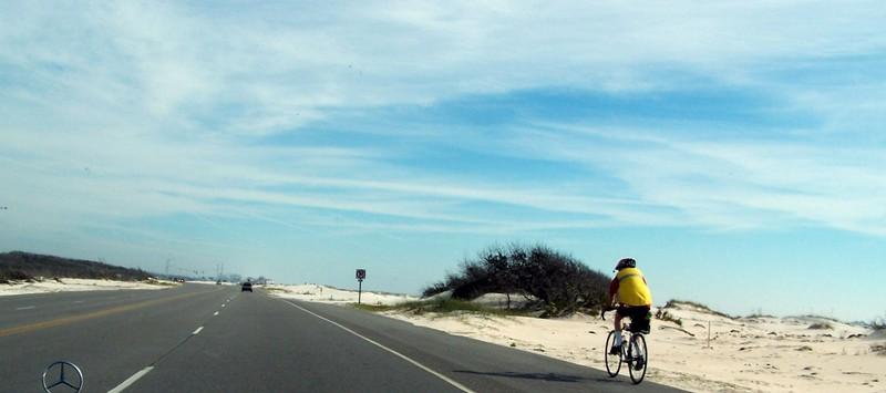 Biker by the Beach