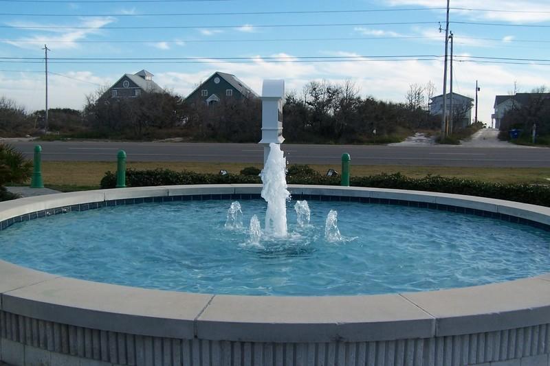 Fountain outside the Orange Beach Welcome Center