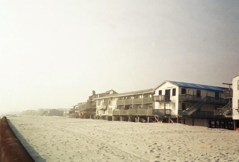 Buildings on the beach
