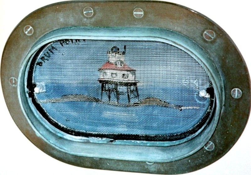 One of the porthole screens