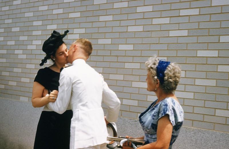 Bob kissing me after his graduation