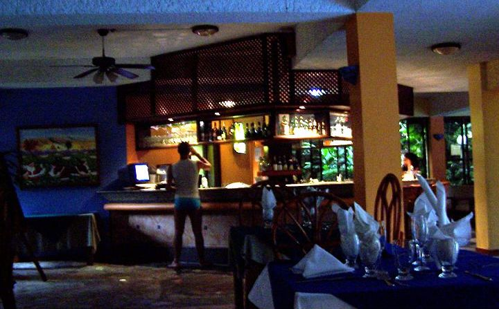 bar from the restaurant