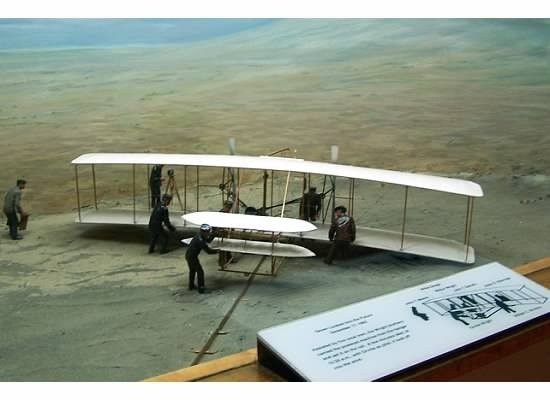 Diorama of the first flight