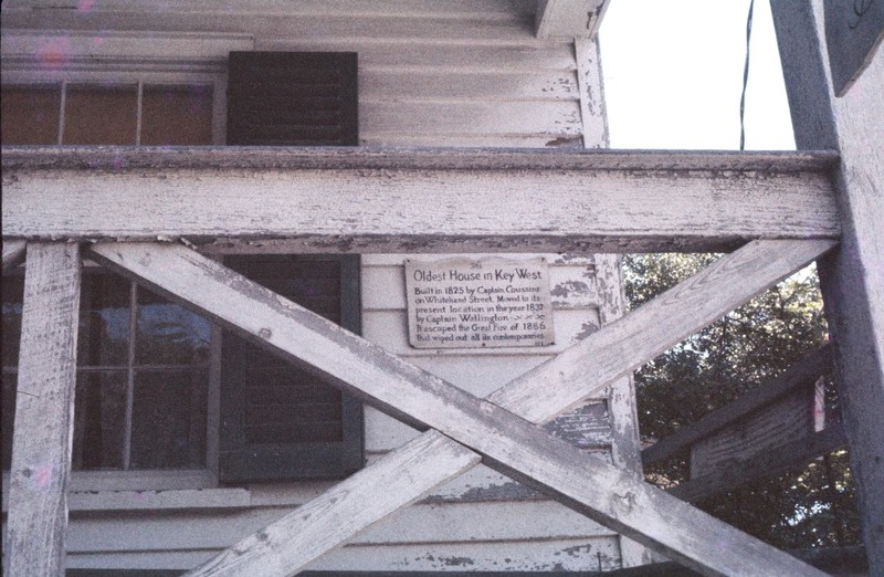Sign on the Oldest House in 1961