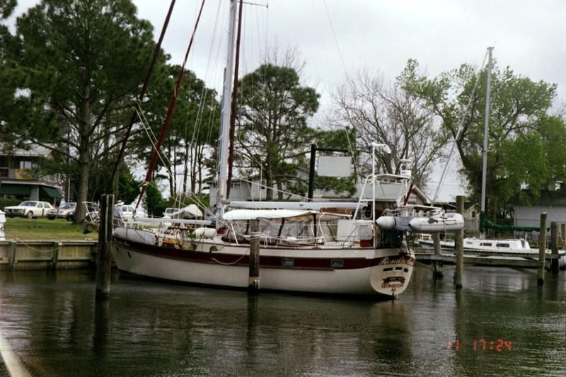docked in Oriental