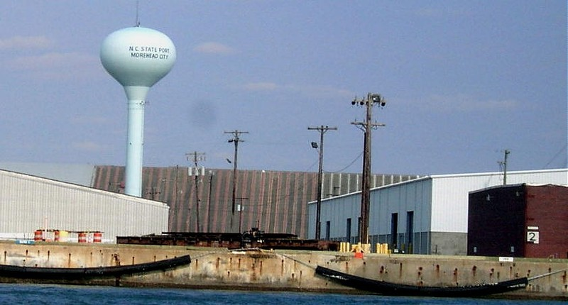 Docks and water tower