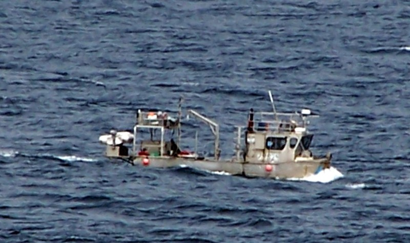 Boat alongside the ship