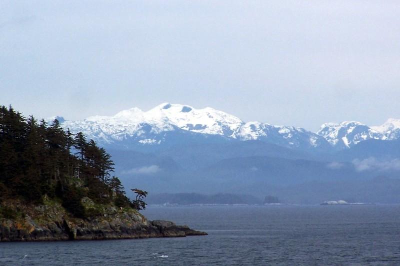 Snow capped peaks