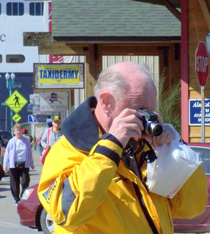 Bob taking a photo