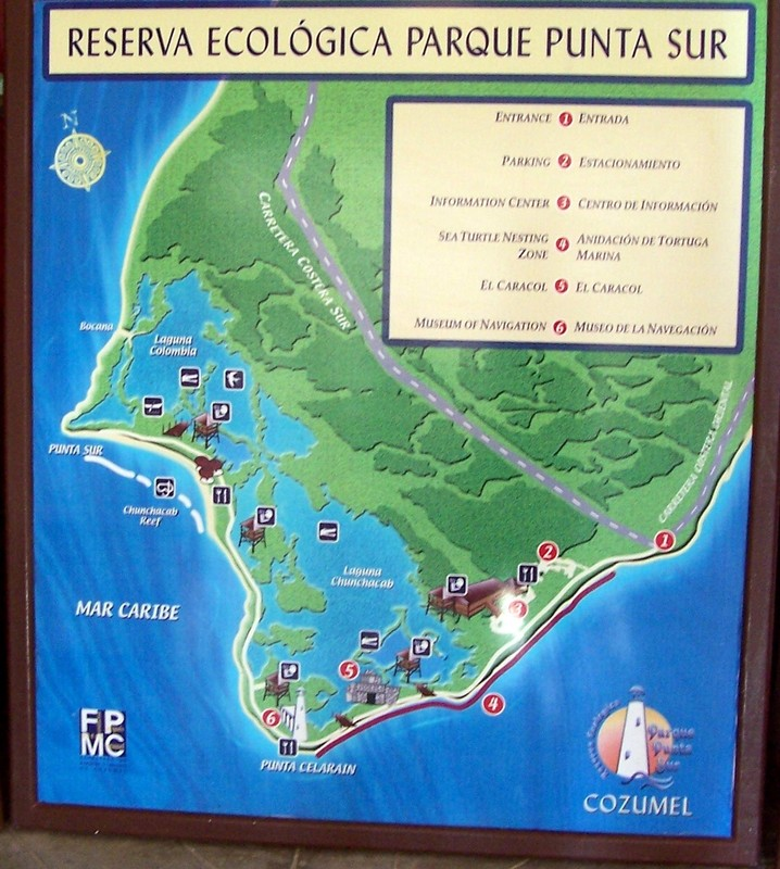 Map of the Reserva Ecologica Parque Punta Sur