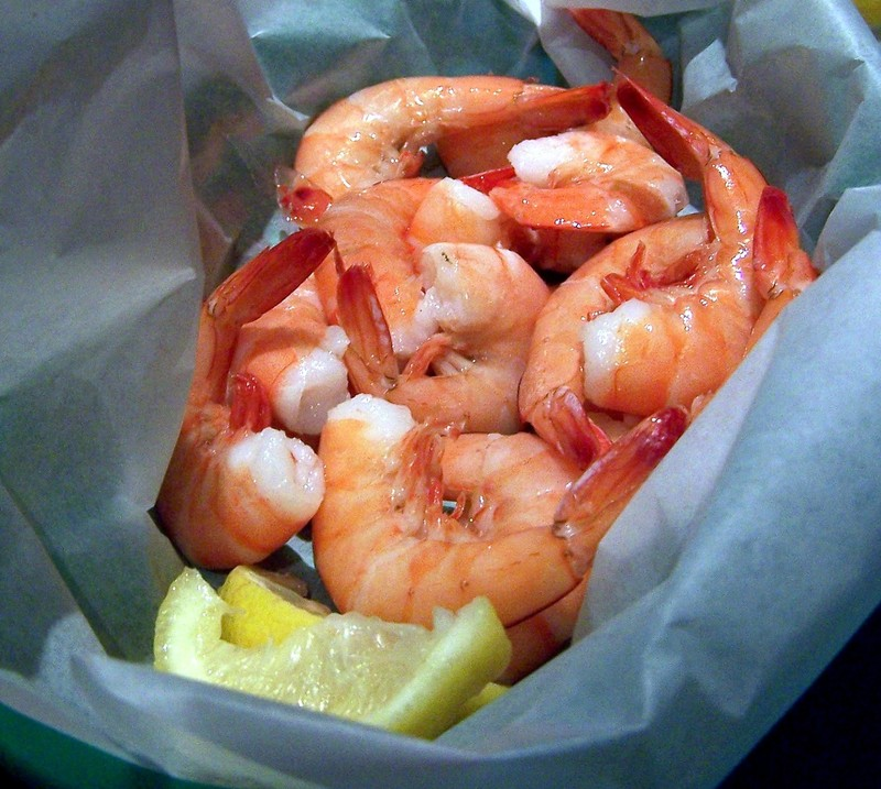 Half pound of peel and eat shrimp