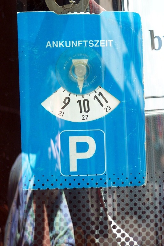 Parking tag in the bus