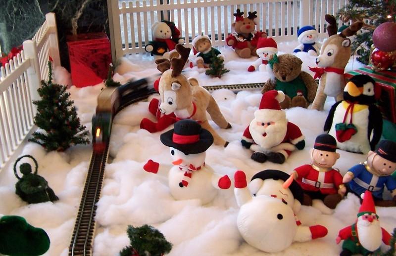 Christmas train garden in the World Trade Center