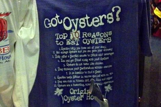 Oyster shopping