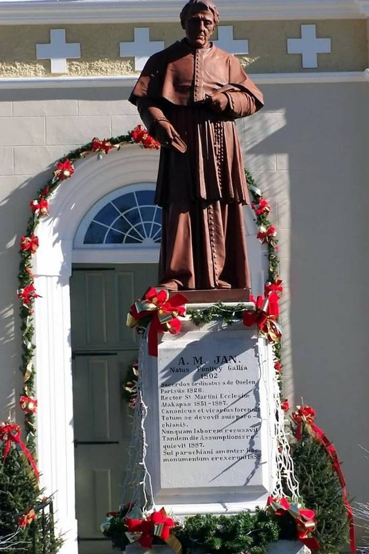 Rev. Ange Marie Jan statue
