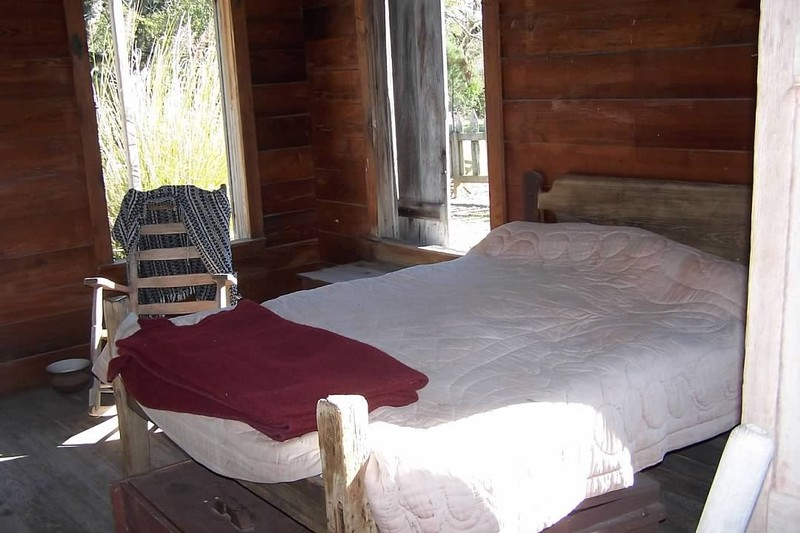 Bed in the cabin