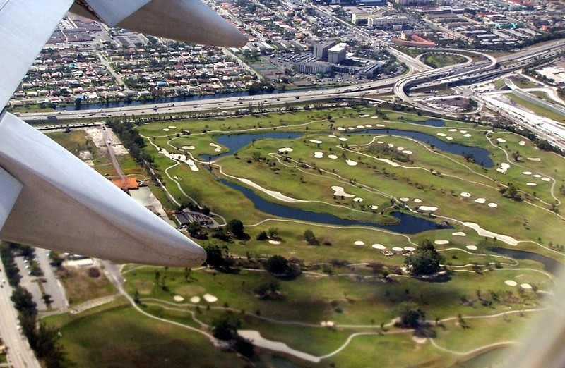 Taking off - a golf course