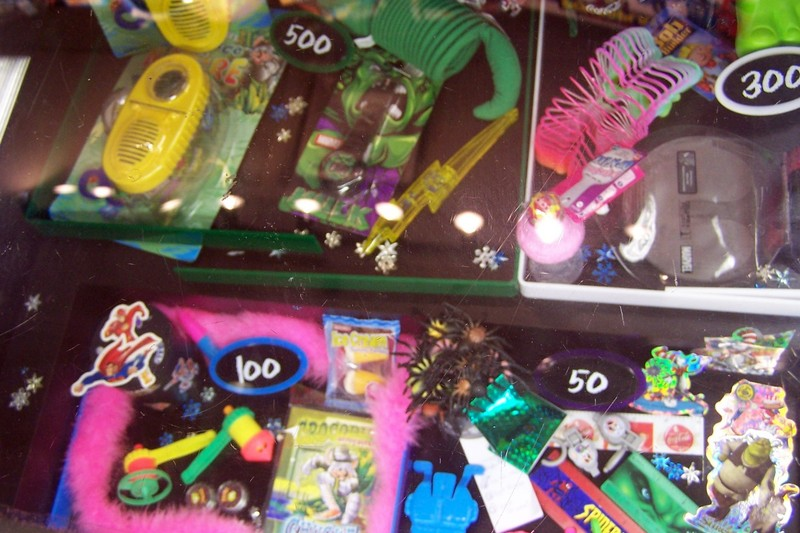 Prizes you get from playing the games at Chucky Cheese