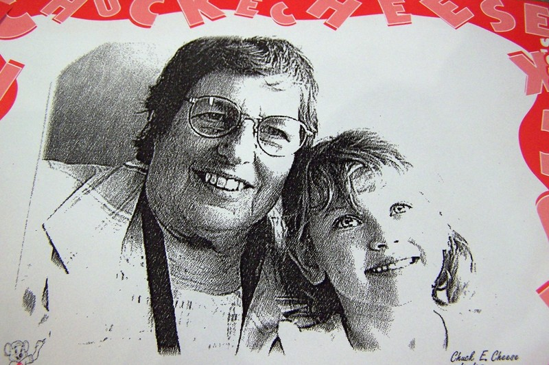 Chuckie cheese photo of me and granddaughter