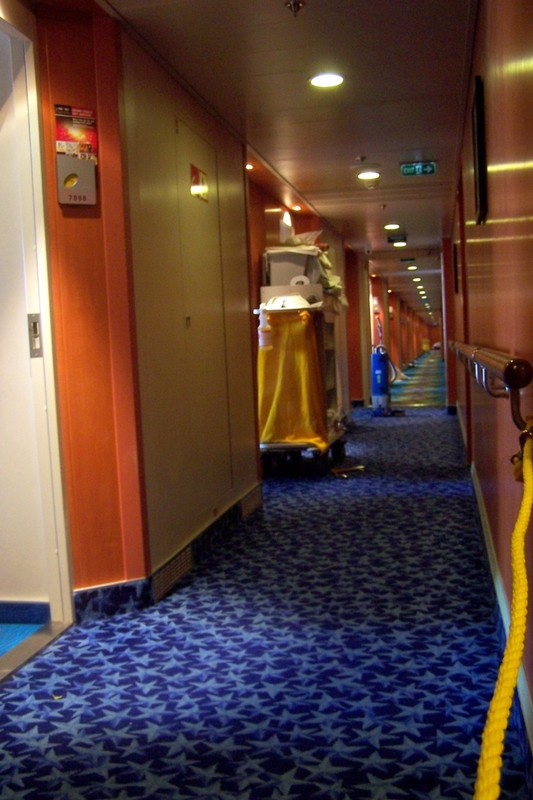 Rope off corridor to room