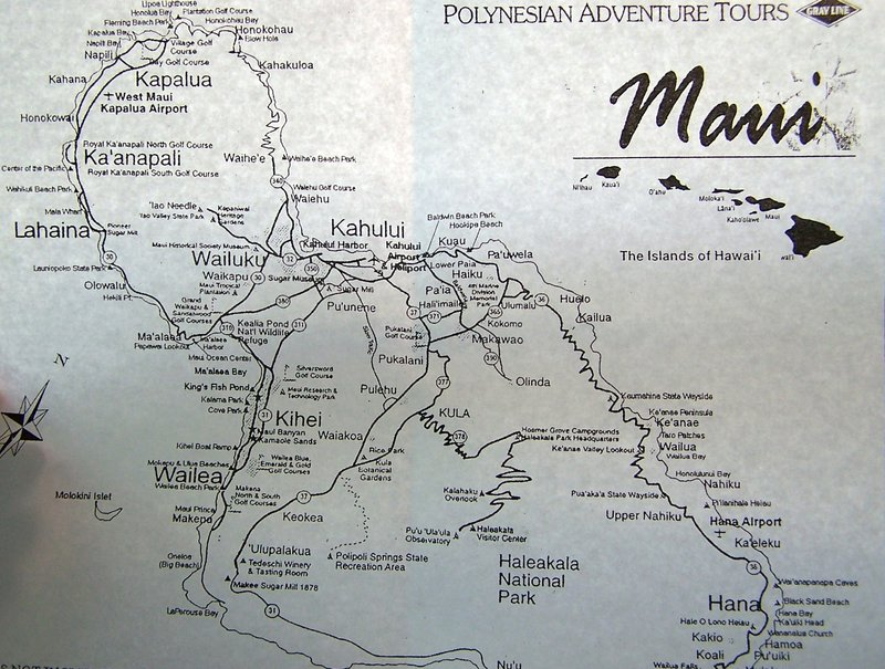 Maui's head is upper left - crossed arms above the Haleakala Visitor Center