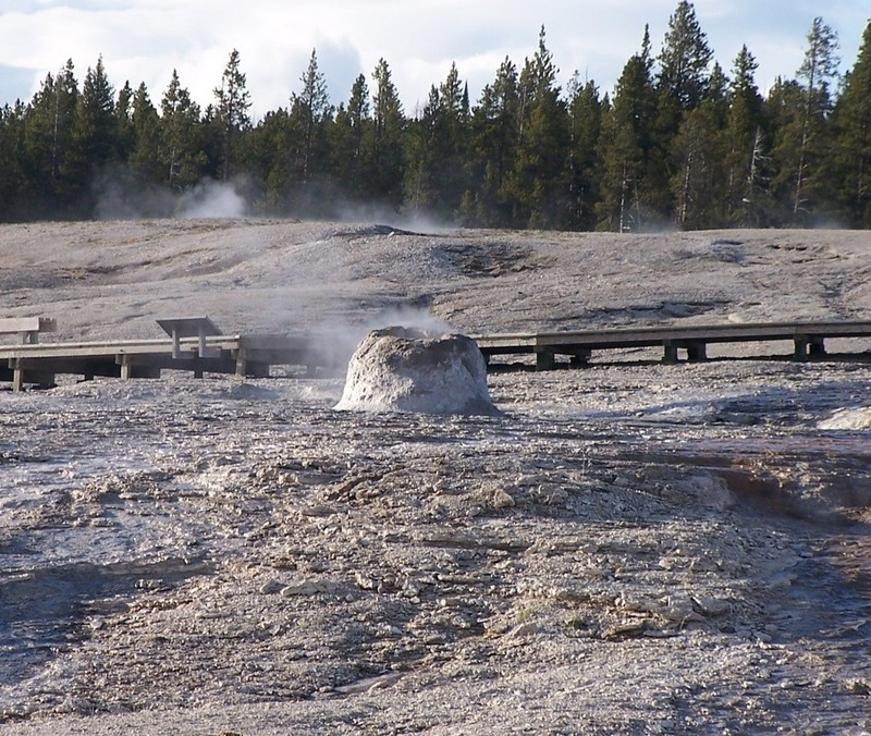Beehive Geyser (not erupting at this time)