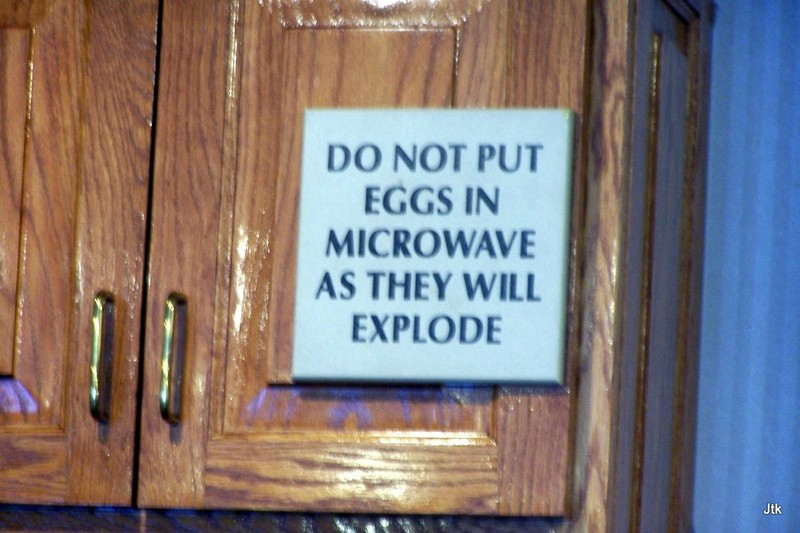 Do Not Put Eggs in Microwave