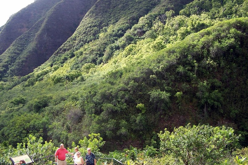 Flanks of the volcano from the trail