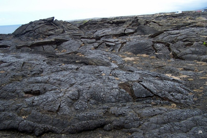 Lava at the end of the road