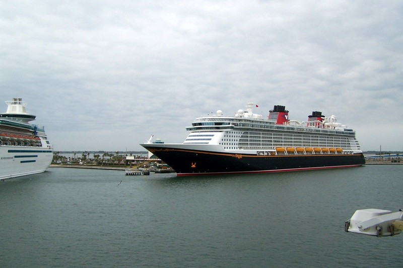 Disney ship - maybe Fantasie which was new when we sailed on her in 2013