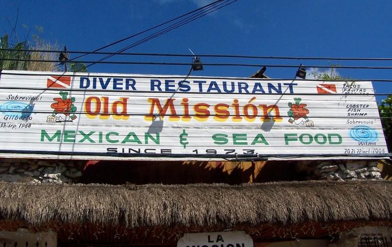 Old Mission Restaurant sign