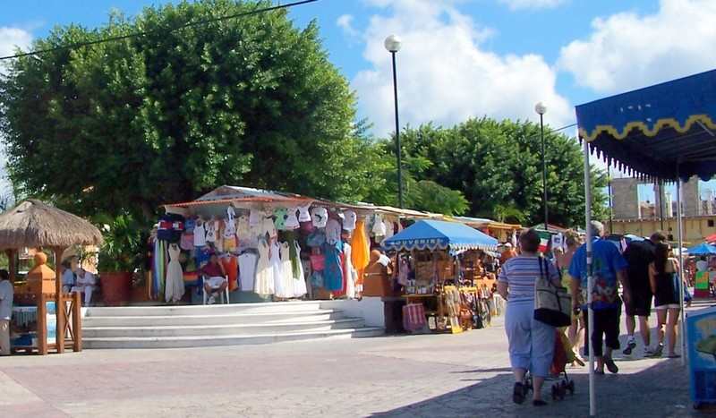 Town square open air market