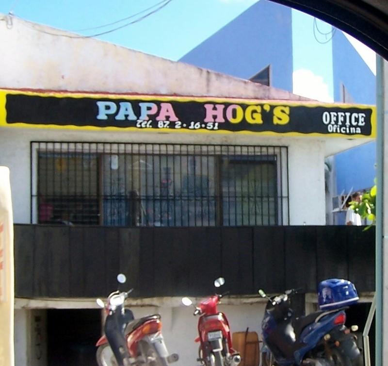 Papa Hog's dive shop