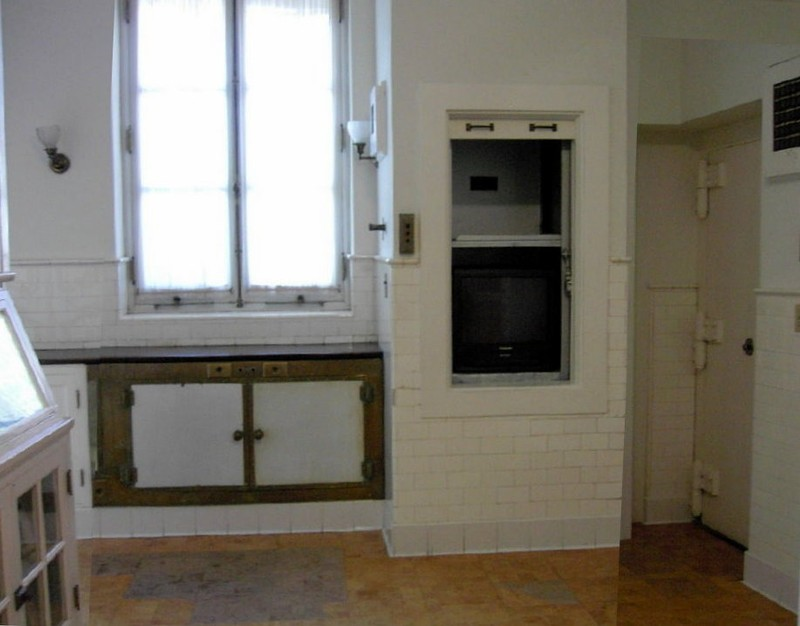 Dumbwaiter in the pantry