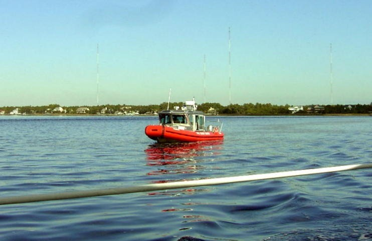 Red Coast Guard boat