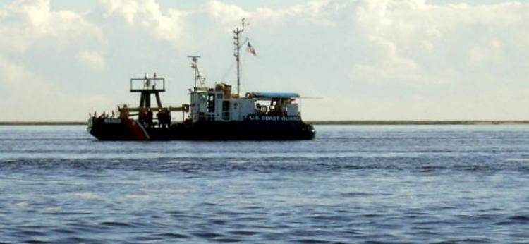 Coast Guard working boat