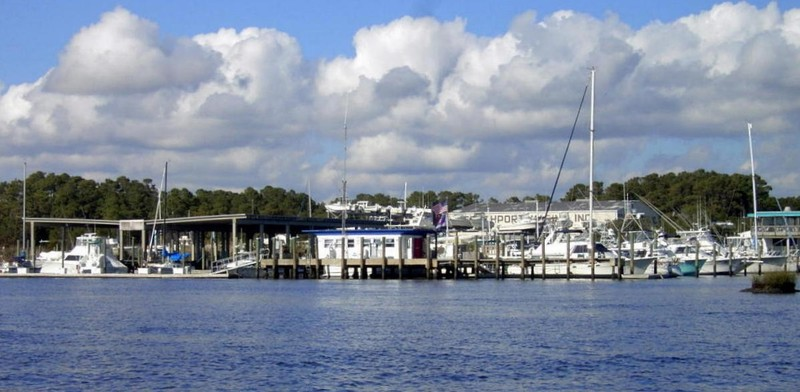 Southport Marina - fully booked because of a fishing tournament