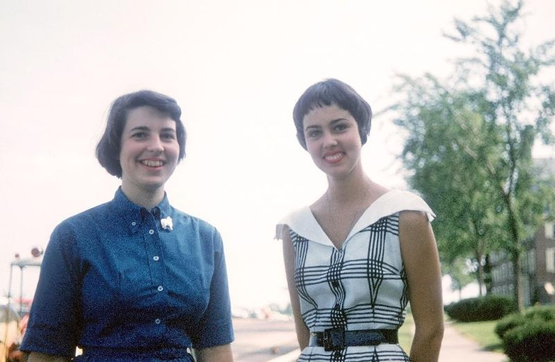 Me (on left) and my roomate in 1956 - Waterville