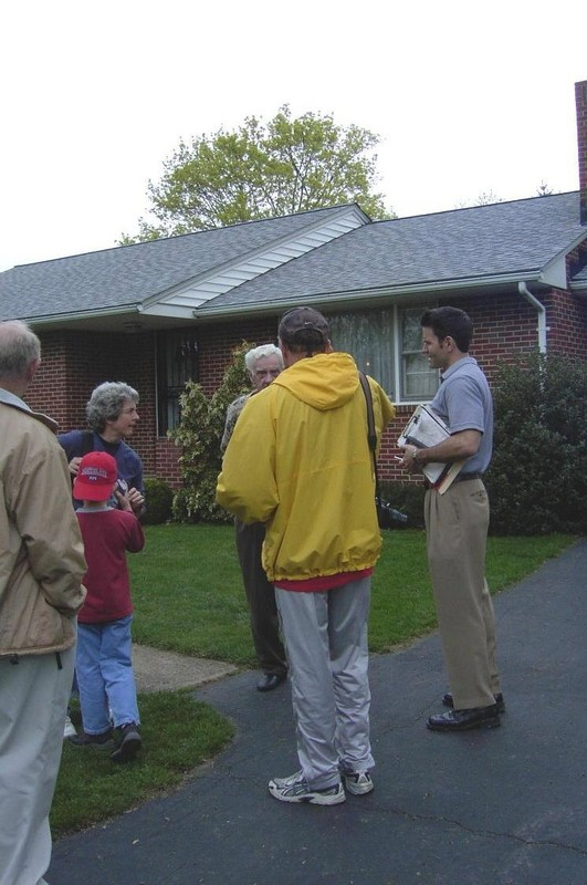 Home inspector in the driveway with D and Bob