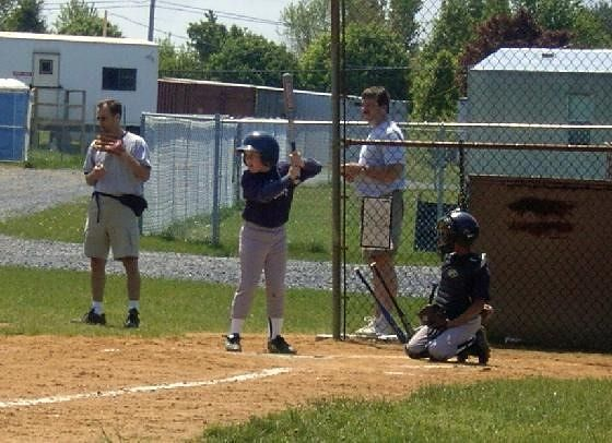 Grandson at coach pitch batting lefty
