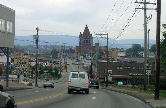 Coming into town on Route 40
