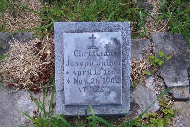 Christian Joseph Julien<br />Birth 15 Apr 1852<br />Death 26 Nov 1902 (aged 50)