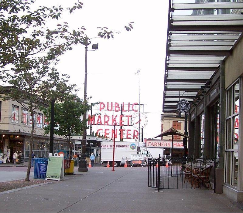 Approaching Pike Street Market 2011