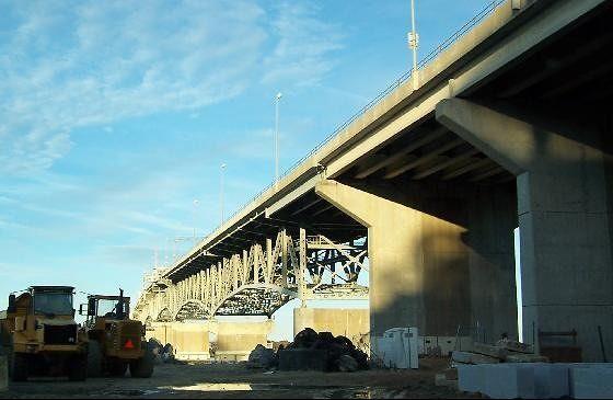 York River Bridge from Yorktown