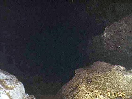 Inside the cave, the camera flash doesn't go far
